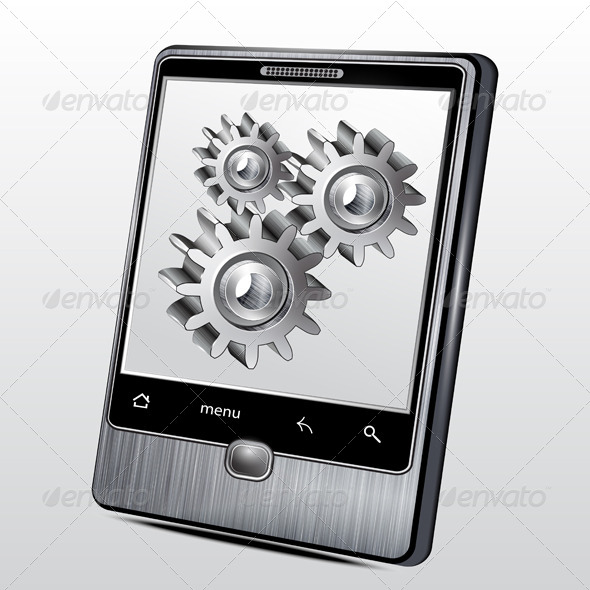 Mobile Phone in a Metal Case  - Vectors