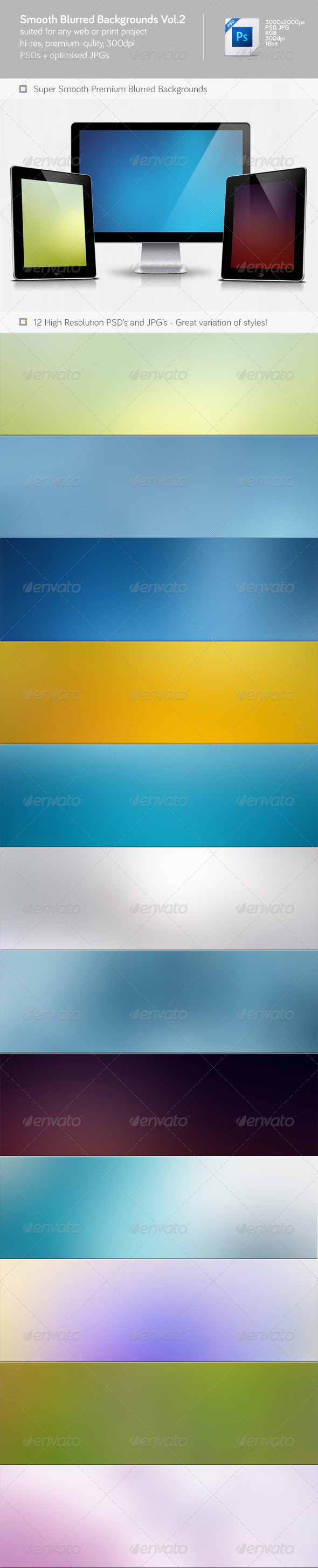 Smooth Blurred Backgrounds Vol.2 - Abstract Backgrounds