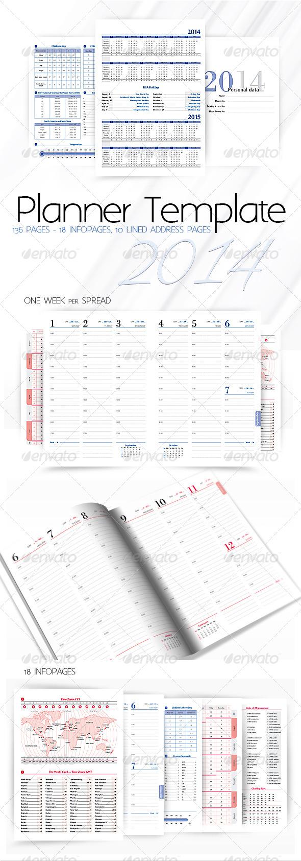 Planner-Diary-Organizer 2014 - Calendars Stationery