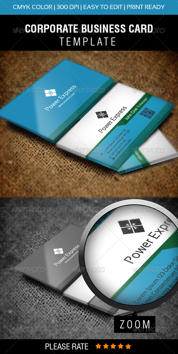 Power Express Business Card - Corporate Business Cards