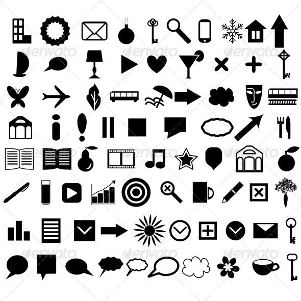 Icons Set - Web Elements Vectors