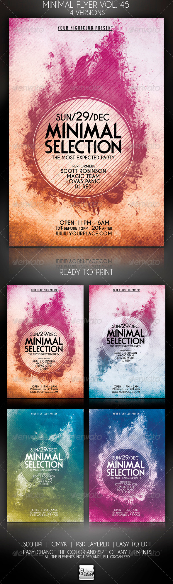 Minimal Flyer Vol. 45 - Clubs & Parties Events