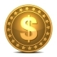 Dollars Money Coin - GraphicRiver Item for Sale