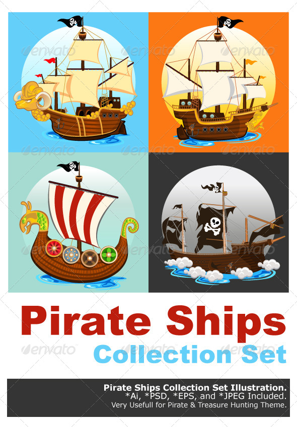Pirate Ship Collection Set - Man-made Objects Objects