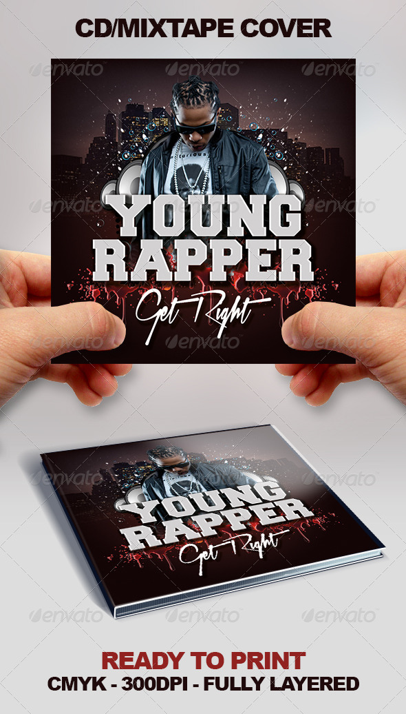 Cool Mixtape/CD/EP Cover - CD & DVD Artwork Print Templates