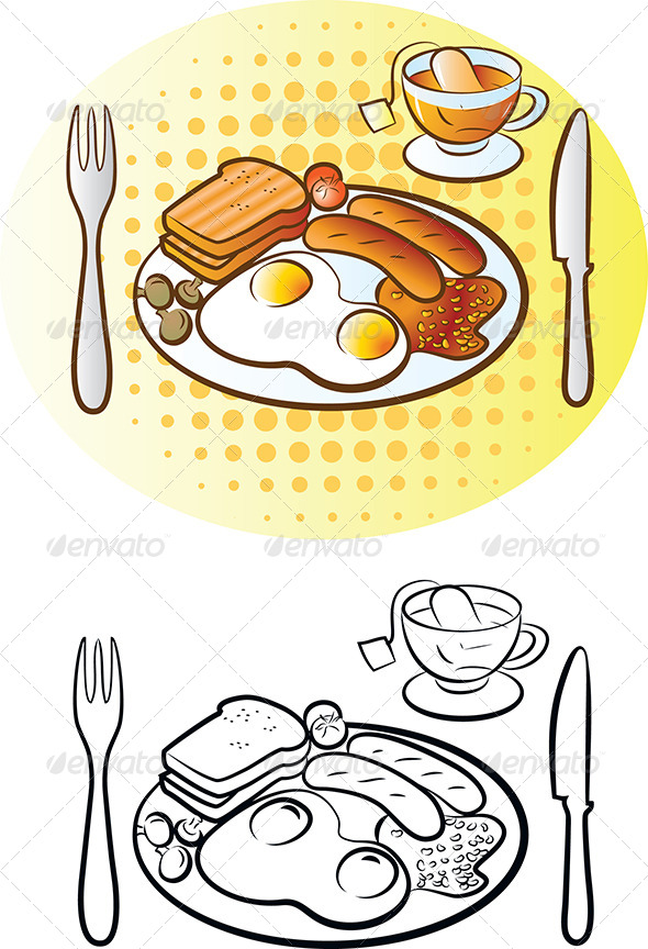 English Breakfast - Food Objects