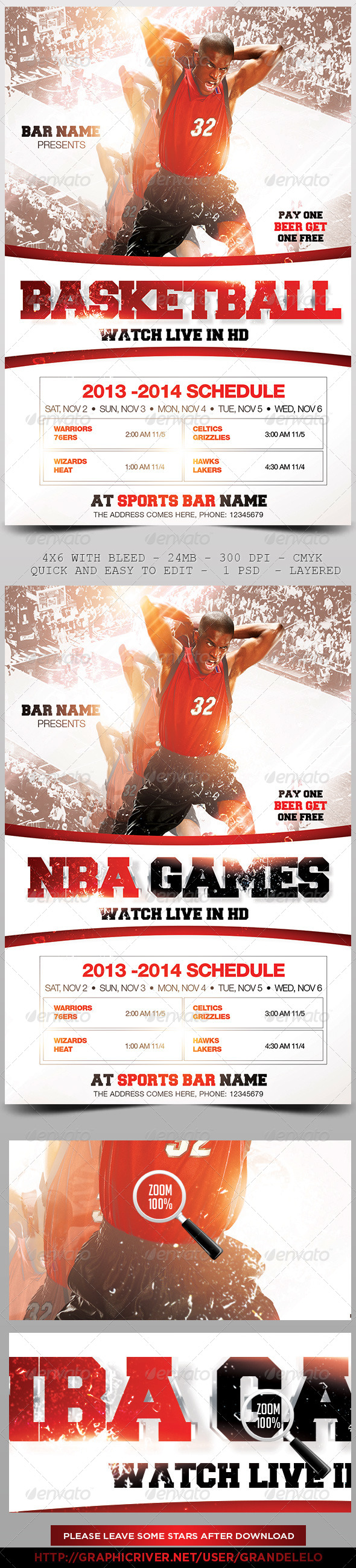 Basketball Flyer Template 3.0 - Sports Events