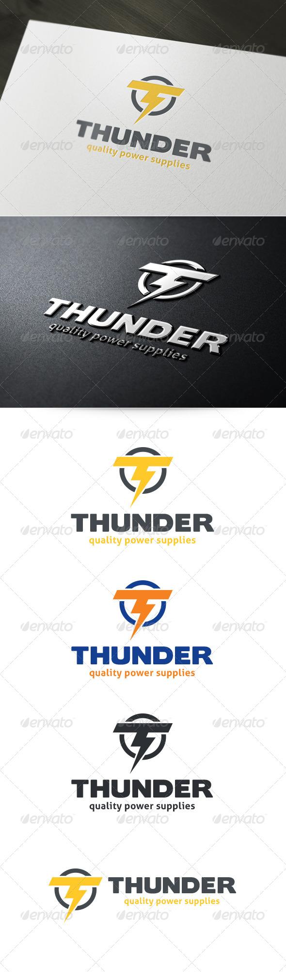 Letter T - Thunder Logo - Letters Logo Templates