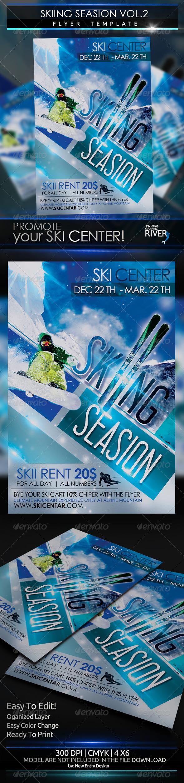 Skiing Season Flyer Template Vol 2 - Sports Events