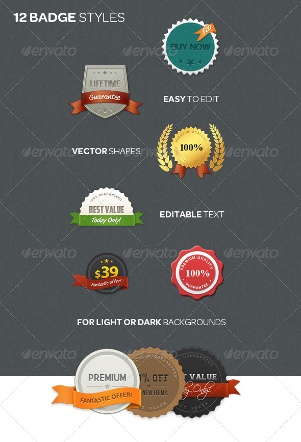 Web Badge Kit - Badges & Stickers Web Elements