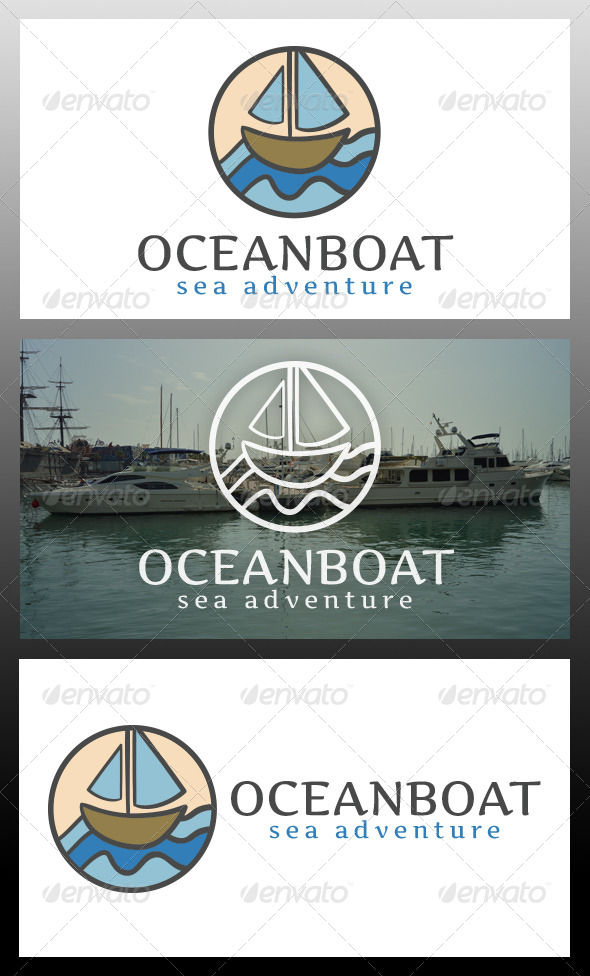 Ocean Boat Logo Template - Objects Logo Templates