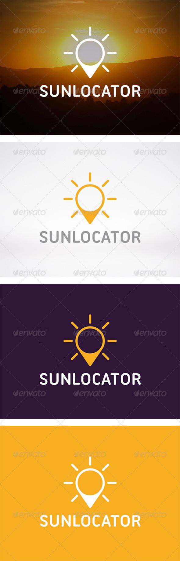 Sun Locator Logo - Nature Logo Templates