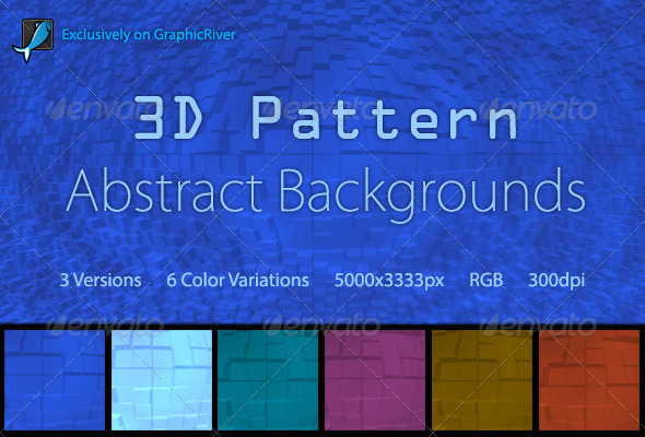 3D Pattern Abstract Backgrounds - Abstract Backgrounds