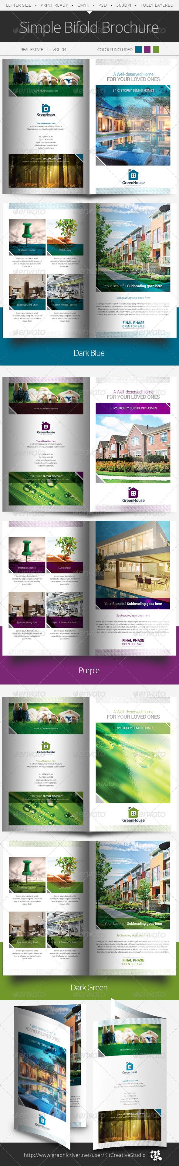 Simple Bifold Brochure Vol.04 - Informational Brochures