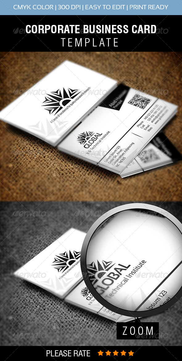 Global IT Business Card - Corporate Business Cards