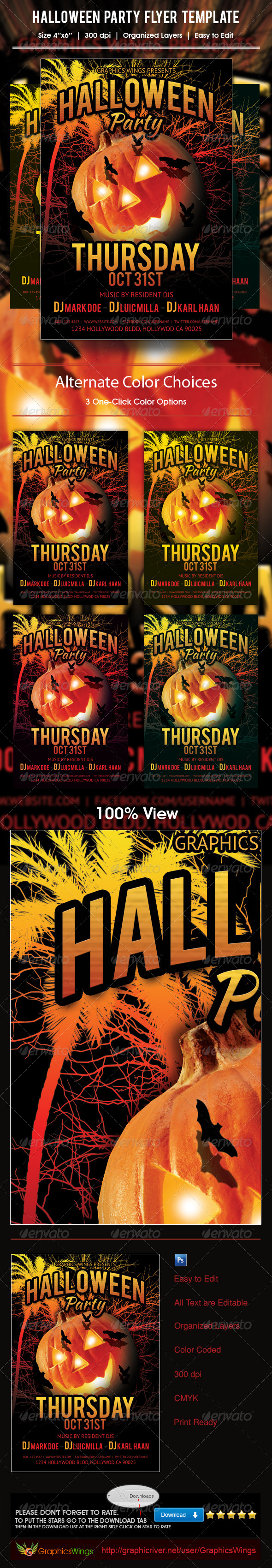 Halloween Party Flyer Template - Events Flyers