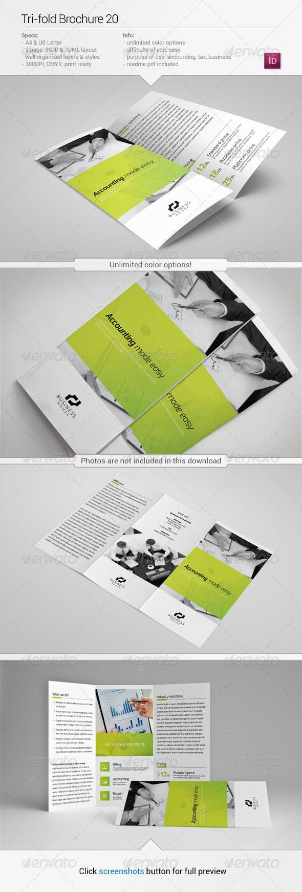Tri-Fold Brochure 20 - Corporate Brochures
