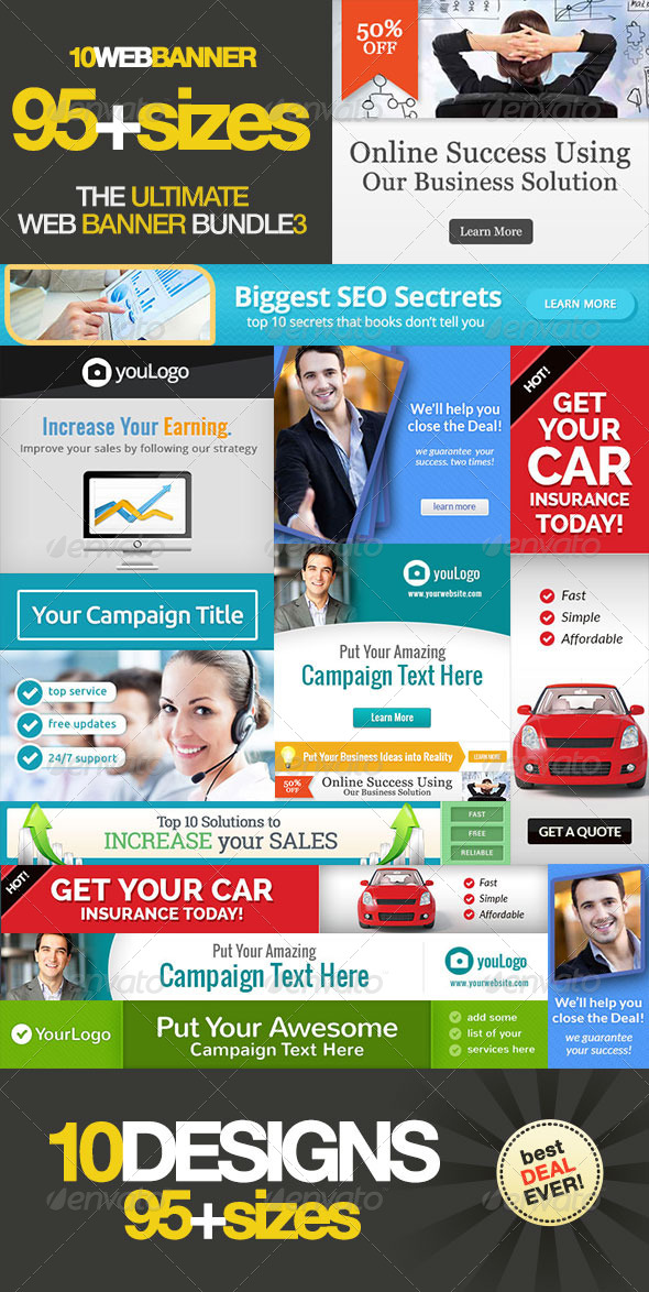 Ultimate Banner Ad Set Bundle Vol. 3 - Banners & Ads Web Elements