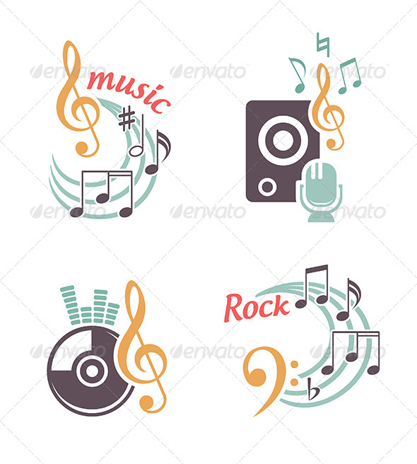 Music Vector Elements - Abstract Conceptual