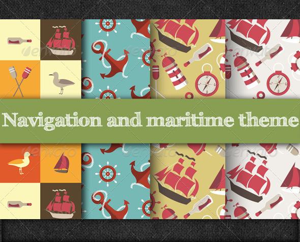 Marine and Nautical Pattern - Patterns Decorative