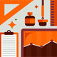Set of Office Tools Illustration - GraphicRiver Item for Sale