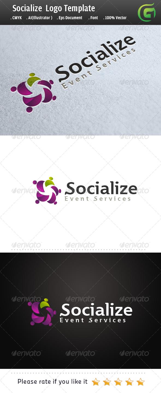 Socialize  - Humans Logo Templates