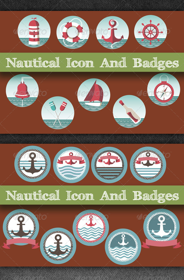 Nautical Icon And Badges - Objects Icons