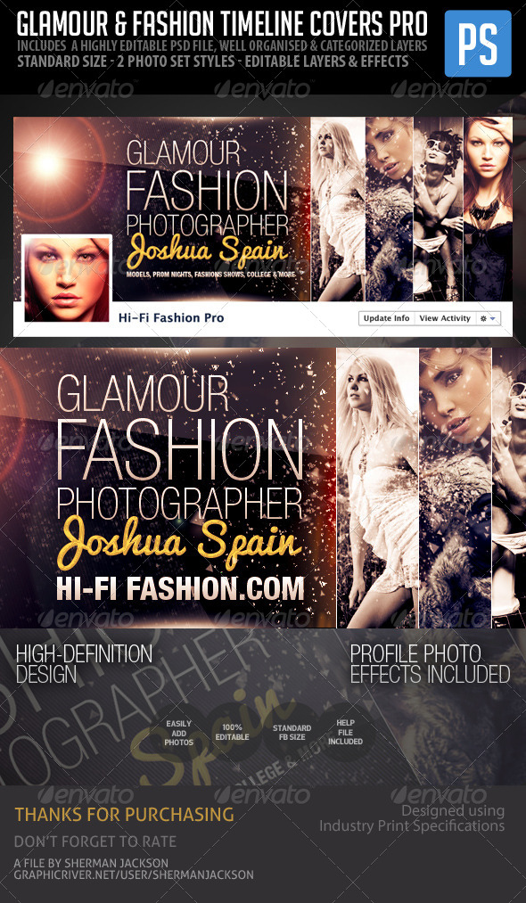 Glamour & Fashion Facebook Timeline Cover Pro - Facebook Timeline Covers Social Media
