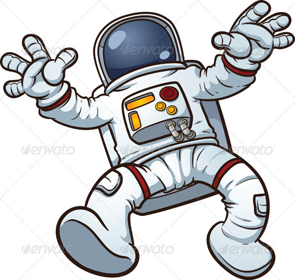 Cartoon Astronaut - People Characters