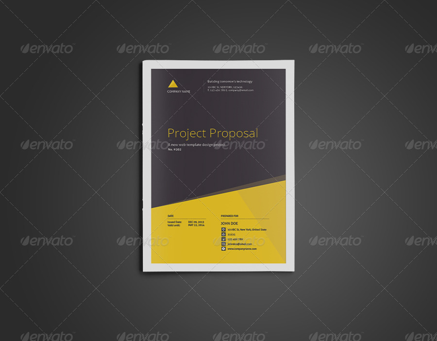 Proposal Template By Yordstudio  Graphicriver