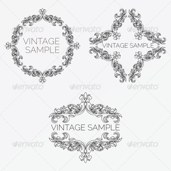 Vintage Frame 61 - Decorative Vectors