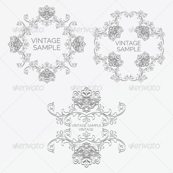 Vintage Frame 65 - Decorative Vectors
