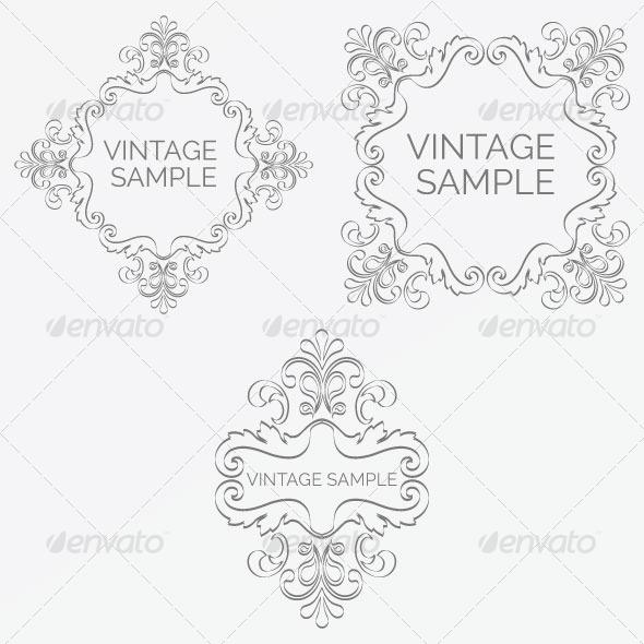 Vintage Frame 68 - Decorative Vectors