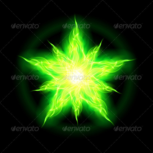 Green Fire Star - Monsters Characters