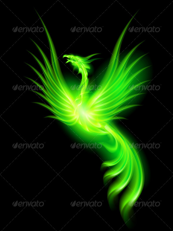 Fire Phoenix - Animals Characters