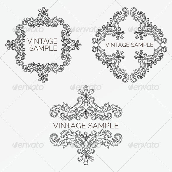 Vintage Frame 70 - Decorative Vectors