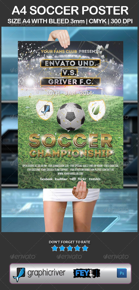 A4 Soccer Poster - Sports Events