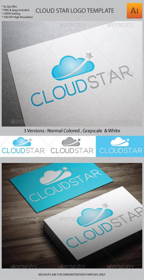 Cloud Star Logo Template - Symbols Logo Templates