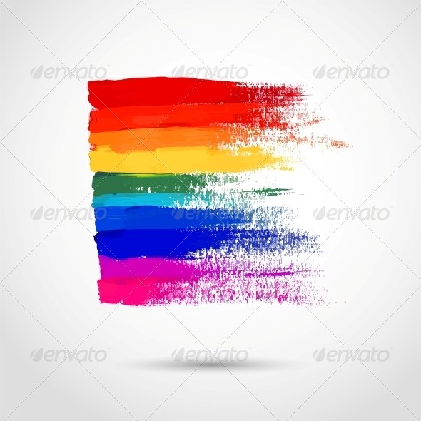 Rainbow Strokes - Backgrounds Decorative