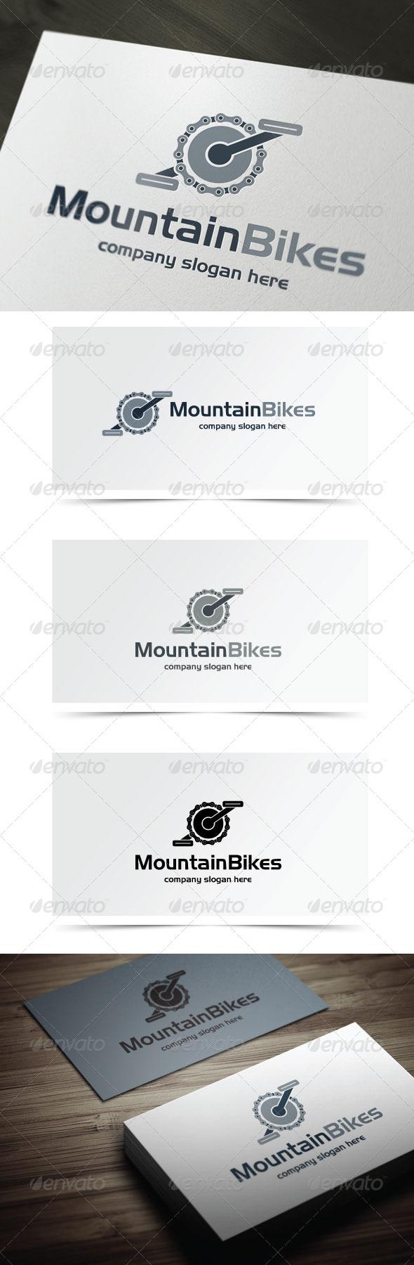Mountain Bikes - Objects Logo Templates