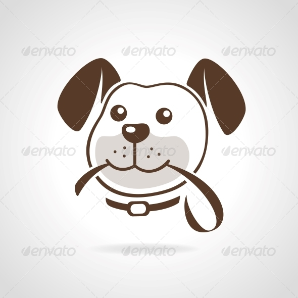 Dog with Leash - Decorative Symbols Decorative
