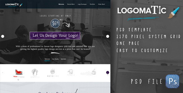 Logomatic - Onepage PSD Template - Business Corporate