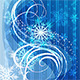 Christmas Blue Background with Snowflakes - GraphicRiver Item for Sale