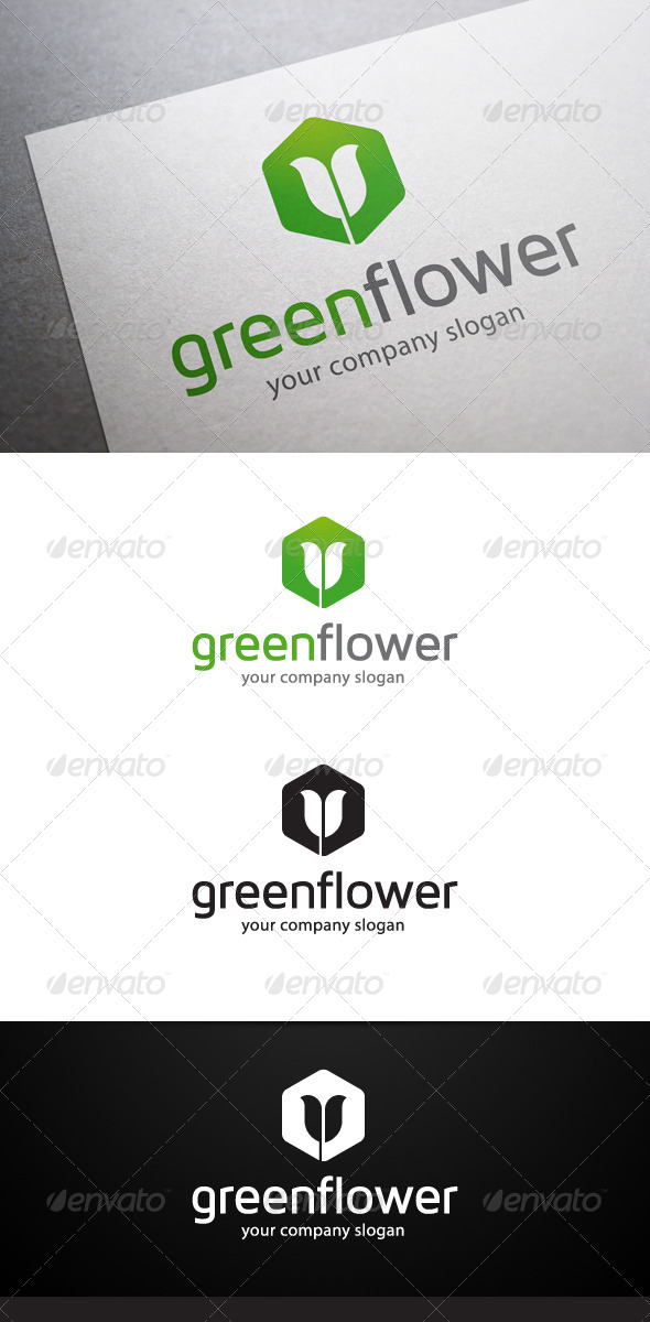 Green Flower Logo - Nature Logo Templates