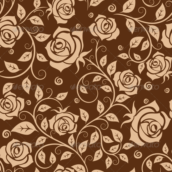 Seamless Pattern with Roses - Patterns Decorative
