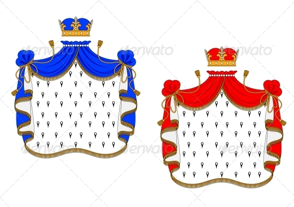 Red and Blue Royal Mantles - Decorative Symbols Decorative
