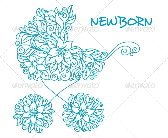 Blue Baby Carriage - Birthdays Seasons/Holidays