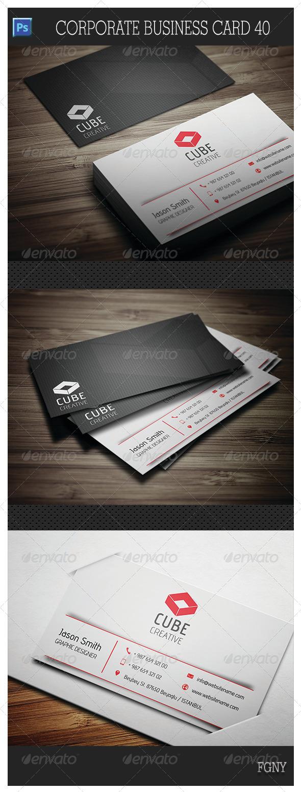 Corporate Business Card 40 - Corporate Business Cards