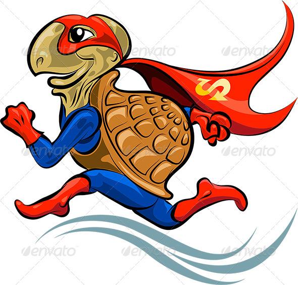 Turtle Superhero - Characters Vectors