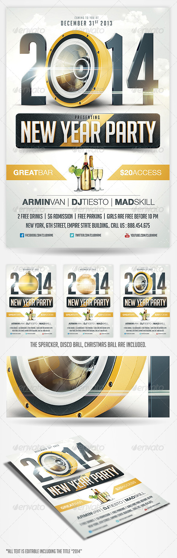 2014 New Years Eve Party Flyer - Holidays Events